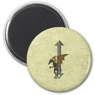 Gargoyle Monogram I Refrigerator Magnets