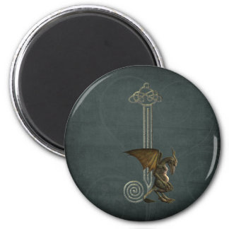 Gargoyle Monogram J 2 Inch Round Magnet