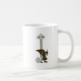 Gargoyle Monogram J Classic White Coffee Mug