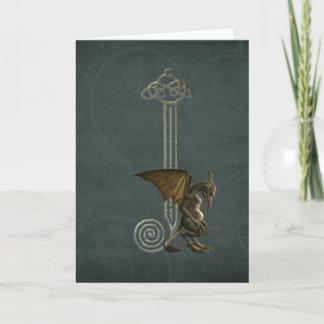 Gargoyle Monogram J Note Card