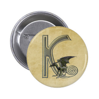 Gargoyle Monogram K Button