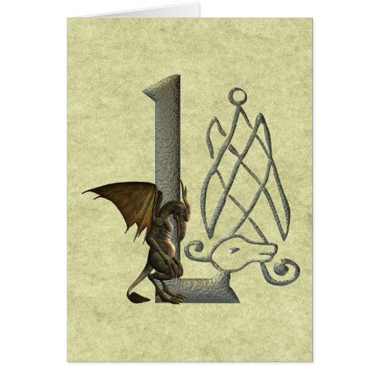 Gargoyle Monogram L Card
