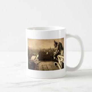 Gargoyle Notre Dame, Paris France 1912 Vintage Coffee Mug