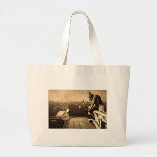 Gargoyle Notre Dame, Paris France 1912 Vintage Jumbo Tote Bag