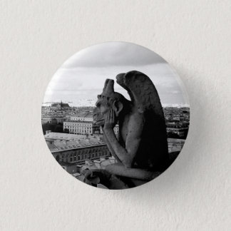 Gargoyle of Notre Dame Gothic button pin