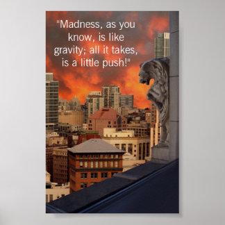 Gargoyle on ledge poster