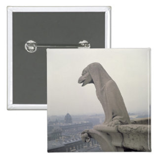 Gargoyle on the balustrade of the Grande 2 Inch Square Button