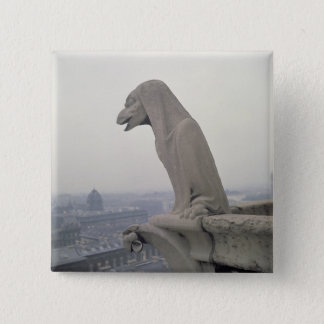 Gargoyle on the balustrade of the Grande Pinback Button