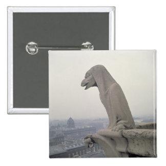 Gargoyle on the balustrade of the Grande Pinback Button