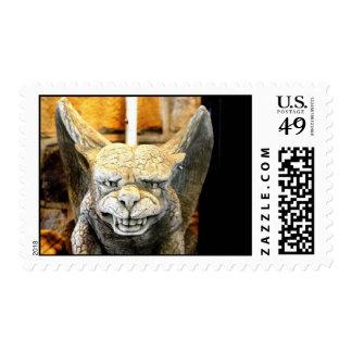 gargoyle sculpture stamp