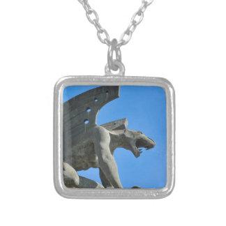 Gargoyle Silver Plated Necklace
