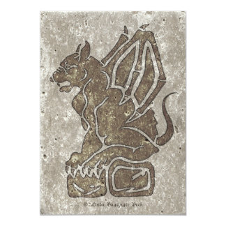 Gargoyle Stone Gray Card