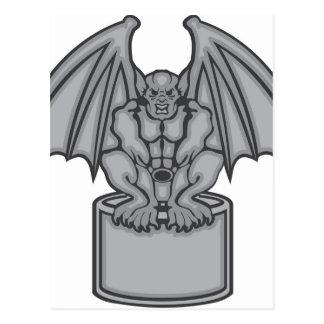 Gargoyle vector postcard
