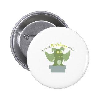 GargoyleAlwaysWatchingOver 2 Inch Round Button