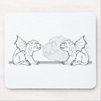 Gargoyles de gruñido tapete de ratones