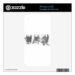 Gargoyles Eating fast Food Decal For iPhone 4