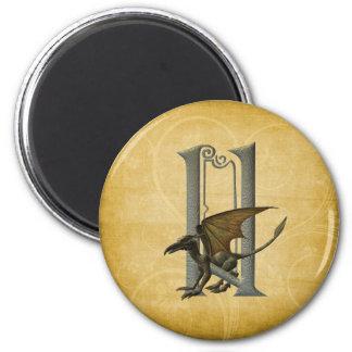 Gargoyles Monogram N Fridge Magnet