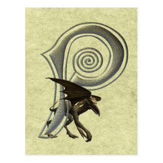 Gargoyles Monogram P Postcard
