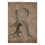 Gargoyles Monogram R Card
