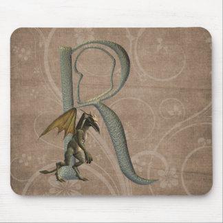 Gargoyles Monogram R Mouse Pad