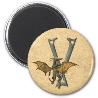 Gargoyles Monogram V Refrigerator Magnets
