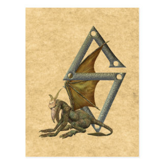 Gargoyles Monogram Z Postcard