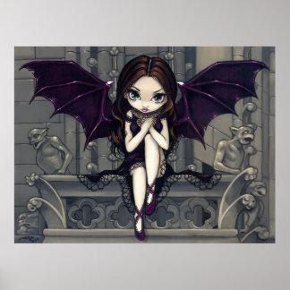 Gargoyles of Notre Dame gothic fairy Art Print