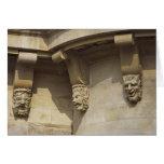 Gargoyles on Pont Neuf bridge in Paris, France Card