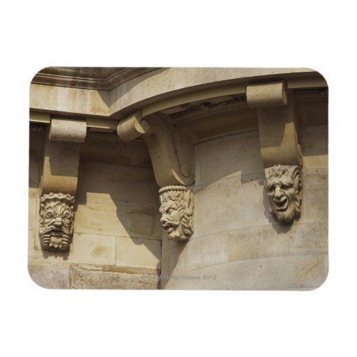 Gargoyles on Pont Neuf bridge in Paris, France Magnet