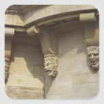 Gargoyles on Pont Neuf bridge in Paris, France Square Stickers