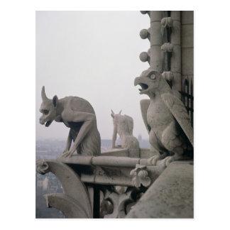 Gargoyles on the balustrade of the Grande Postcard