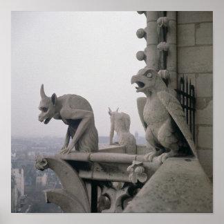 Gargoyles on the balustrade of the Grande Poster
