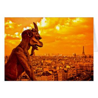 Gargoyles Over Paris Card
