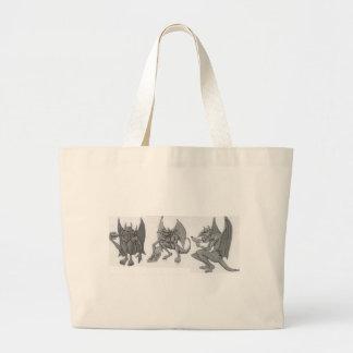 Gargoyles que comen los alimentos de preparación bolsa tela grande