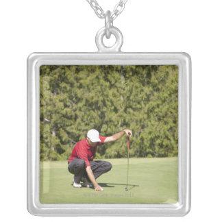Garibaldi Springs Golf Course, Squamish, B.C. Square Pendant Necklace
