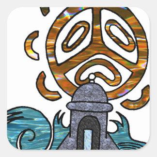 garita del diablo y Sol Taino Square Sticker