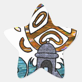 garita del diablo y Sol Taino Star Sticker