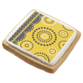 Garland ARTdeco black white + your backgr. color Square Shortbread Cookie