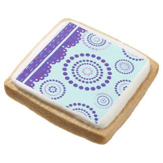 Garland ARTdeco violet blue + your backgr. color Square Shortbread Cookie