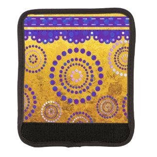 Garland ARTdeco violet blue + your background Luggage Handle Wrap