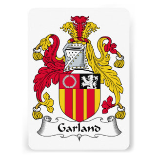 Garland Family Crest Personalized Announcement