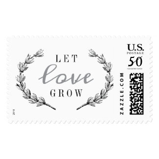 GARLAND GREENS WEDDING STAMP