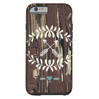 Garland Hearts Crossed Arrows Barnwood Retro Tough iPhone 6 Case