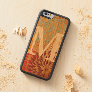 Garland Monogram Any Color on Wood Carved® Cherry iPhone 6 Bumper Case