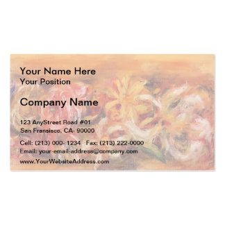 Garland of Flowers by Pierre-Auguste Renoir Double-Sided Standard Business Cards (Pack Of 100)