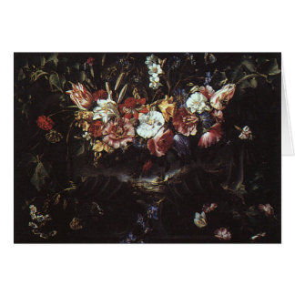 Garland of Flowers with Landscape Card