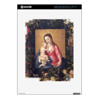 Garland of Fruit and Flowers with Virgin and Child Decals For iPad 3