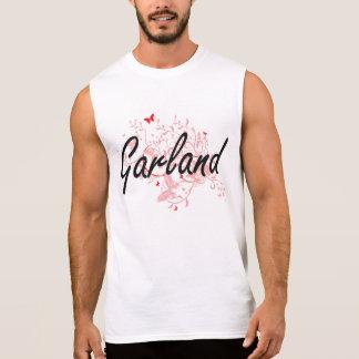 Garland Texas City Artistic design with butterflie Sleeveless T-shirt
