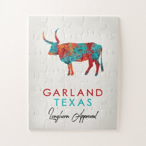 Garland Texas Colorful Longhorn Jigsaw Puzzle