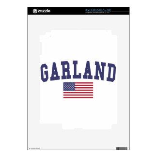 Garland US Flag iPad 2 Decal